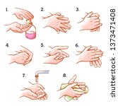 hands washing medical... | Shutterstock .eps vector #1373471408