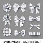 pretty white gift bows with... | Shutterstock .eps vector #1373481182
