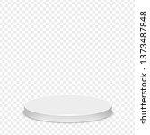 realistic round white pedestal...   Shutterstock .eps vector #1373487848
