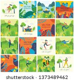 vector nature eco backgrounds... | Shutterstock .eps vector #1373489462