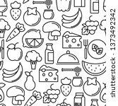 organic food seamless pattern...   Shutterstock .eps vector #1373492342