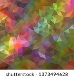 vector background from polygons ...   Shutterstock .eps vector #1373494628