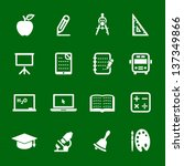 education icons with green... | Shutterstock .eps vector #137349866