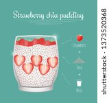 strawberry chia healthy milk...   Shutterstock .eps vector #1373520368