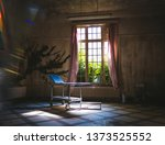 psychiatry bed in old vintage... | Shutterstock . vector #1373525552
