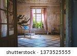 psychiatry bed in old vintage... | Shutterstock . vector #1373525555