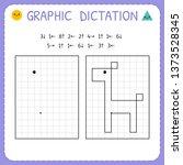 graphic dictation. giraffe.... | Shutterstock .eps vector #1373528345