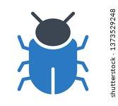 bug glyph double color | Shutterstock .eps vector #1373529248