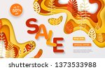 autumn sale banner with multi... | Shutterstock .eps vector #1373533988