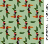 geometric seamless pattern with ... | Shutterstock .eps vector #1373542892
