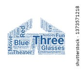 3d glasses word cloud. tag... | Shutterstock .eps vector #1373571218