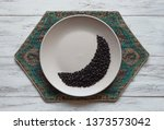moon shape laid out coffee... | Shutterstock . vector #1373573042