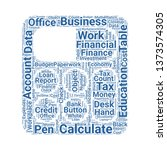 calculator word cloud. tag... | Shutterstock .eps vector #1373574305