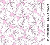 leaf fall pastel girly pattern | Shutterstock .eps vector #1373575205