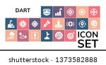 dart icon set. 19 filled dart... | Shutterstock .eps vector #1373582888