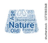 trunk word cloud. tag cloud... | Shutterstock .eps vector #1373583368