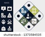 mass icon set. 13 filled mass... | Shutterstock .eps vector #1373584535