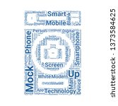 smartphone word cloud. tag...