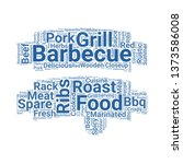 ribs word cloud. tag cloud...   Shutterstock .eps vector #1373586008