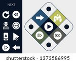 next icon set. 13 filled next...   Shutterstock .eps vector #1373586995