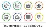 ui icon set. 8 filled ui icons. ...