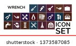 wrench icon set. 19 filled... | Shutterstock .eps vector #1373587085