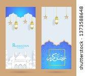 ramadan with trendy design... | Shutterstock .eps vector #1373588648