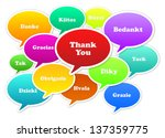 thank you around the world | Shutterstock . vector #137359775