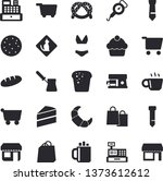solid vector icon set   cake... | Shutterstock .eps vector #1373612612