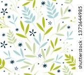 foliate seamless transparent... | Shutterstock .eps vector #1373644985
