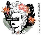 drama queen. vector hand drawn... | Shutterstock .eps vector #1373646182