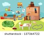 childrens room | Shutterstock .eps vector #137364722