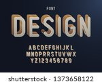 vector of stripy bold font and... | Shutterstock .eps vector #1373658122