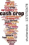 cash crop word cloud concept.... | Shutterstock .eps vector #1373702678