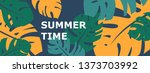 colorful summer banner with... | Shutterstock .eps vector #1373703992