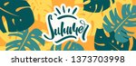 colorful summer banner with... | Shutterstock .eps vector #1373703998