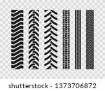 heavy machinery tires track... | Shutterstock .eps vector #1373706872