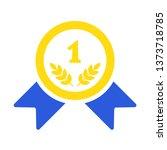gold medal vector icon. golden... | Shutterstock .eps vector #1373718785