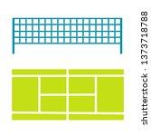 tennis court and divider net... | Shutterstock .eps vector #1373718788