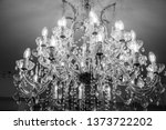 chandelier with candles in... | Shutterstock . vector #1373722202