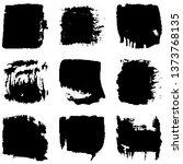 dry brush strokes. abstract... | Shutterstock .eps vector #1373768135
