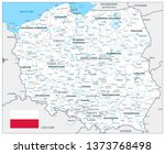 poland detail map white color   ... | Shutterstock .eps vector #1373768498