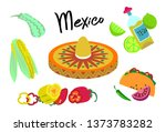 poster with the theme of mexico....   Shutterstock .eps vector #1373783282