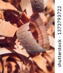 mahogany woodturning chips... | Shutterstock . vector #1373793722