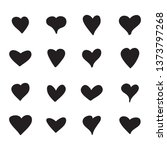 heart icons set isolated on... | Shutterstock .eps vector #1373797268