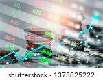 stock market or forex trading... | Shutterstock . vector #1373825222