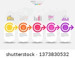 5 steps timeline infographic... | Shutterstock .eps vector #1373830532