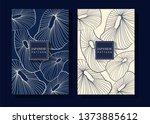 japanese indigo blue background | Shutterstock .eps vector #1373885612