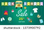 back to school sale vector... | Shutterstock .eps vector #1373900792