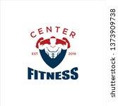 logo for the fitness center | Shutterstock .eps vector #1373909738